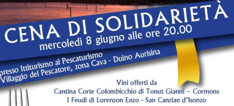 Vieni a cena insieme a Coldiretti Trieste ed ACCRI per sostenere il progetto 'Gocce di vita'