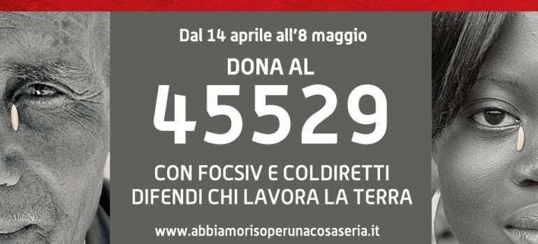 Al via la campagna sms, dona al 45529 fino a l'8 maggio
