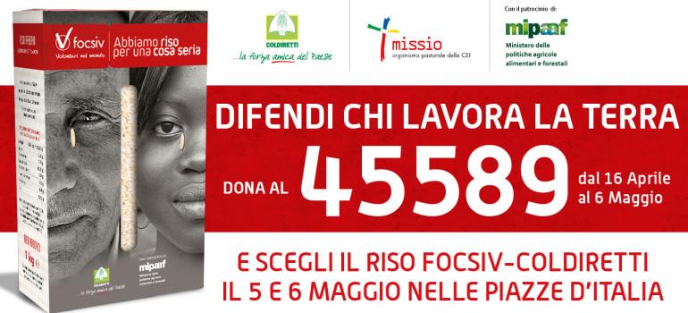 Al via la Campagna Riso 2018: dal 16 aprile al 6 maggio dona al 45589